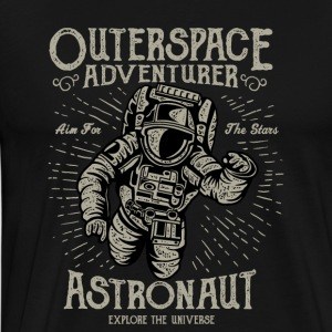 Astronaut: The Outerspace Adventurer. Explore T - Men's Premium T-Shirt