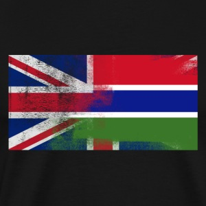 British Gambian Half Gambia Half UK Flag - Men's Premium T-Shirt