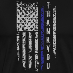 Thank You Thin Blue Line T Shirt - Men's Premium T-Shirt