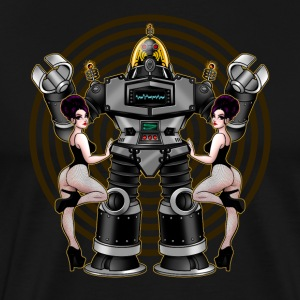 Retro 50's Robot And Fishnet Friends - Men's Premium T-Shirt