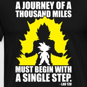 A Journey Of A Thousand Miles Goku - Men's Premium T-Shirt