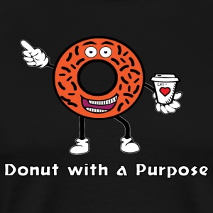 Donut with a Purpose White Ink - Men's Premium T-Shirt