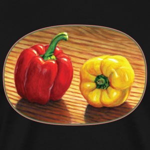 Red and Yellow Bell Pepper - Men's Premium T-Shirt