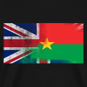 British Burkinabe Half Burkina Faso Half UK Flag - Men's Premium T-Shirt