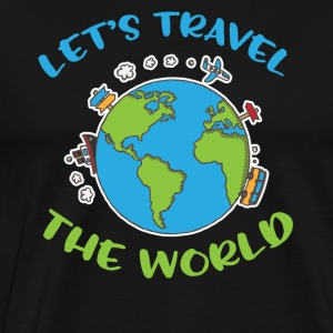 Let´s travel the world - Men's Premium T-Shirt