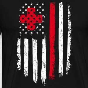 Nurse Gift Distressed American Flag - Men's Premium T-Shirt