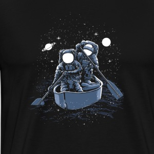 Astronauts rowing in space! Welcome to galaxy. - Men's Premium T-Shirt
