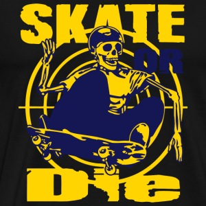 Skateboarder - Skeleton skateboarder - Men's Premium T-Shirt