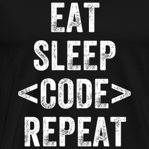 Code - eat sleep code developer - Men's Premium T-Shirt
