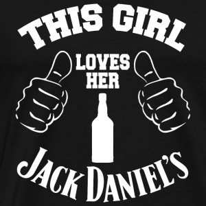 Jack daniel s this girl loves her jack daniel - Men's Premium T-Shirt