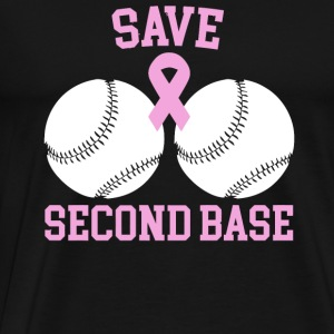 Breast cancer - Save Second Base- Proceeds to Be - Men's Premium T-Shirt