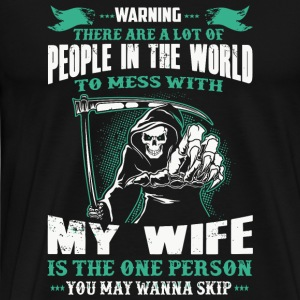 Wife - People In The World To Mess With Redhead - Men's Premium T-Shirt