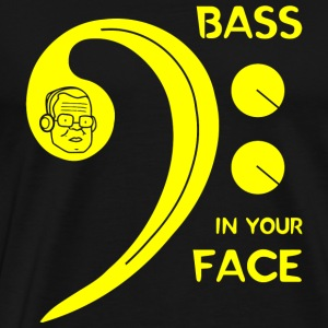 Bass - Bass in Your Face - Men's Premium T-Shirt
