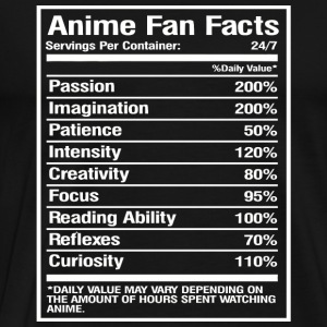Anime - Anime Fan Facts Tshirt - Men's Premium T-Shirt