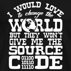 Code - I would love to change the world - Men's Premium T-Shirt