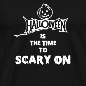 Halloween pumpkin - The time to scary on - Men's Premium T-Shirt
