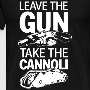 The Godfather - Leave the gun take the Cannoli - Men's Premium T-Shirt