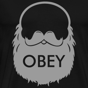 Beard - Obey The Beard - Men's Premium T-Shirt