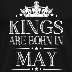 May - Kings Are Born In May Best Birthday Gifts - Men's Premium T-Shirt