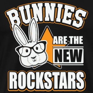 Flauschig - Bunnies are the new rockstars - Men's Premium T-Shirt