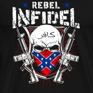 Rebel Infidel - Skull with gun T-shirt - Men's Premium T-Shirt