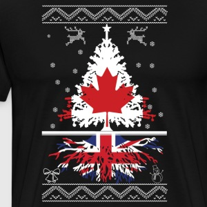 Canadian with British root - Men's Premium T-Shirt