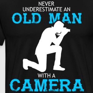 Old Man With A Camera T Shirt - Men's Premium T-Shirt