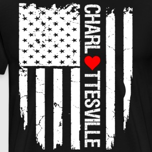 I Love Heart Charlottesville Flag T-Shirt - Men's Premium T-Shirt