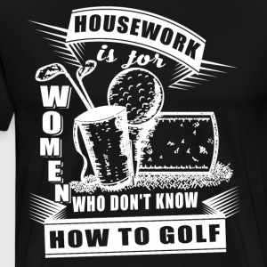 How To Golf T Shirt - Men's Premium T-Shirt