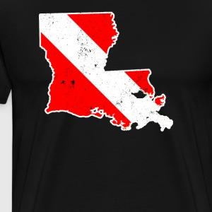 Louisiana Scuba Dive Flag Diver Down Flag Shirt - Men's Premium T-Shirt