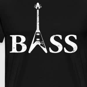 Bass Guitar Gift Flying V Bass Guitar - Men's Premium T-Shirt