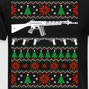 AR15 AR 15 Ugly Christmas Sweater - Men's Premium T-Shirt