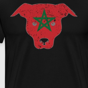 Cute Puppy Morocco Flag Moroccan Flag - Men's Premium T-Shirt