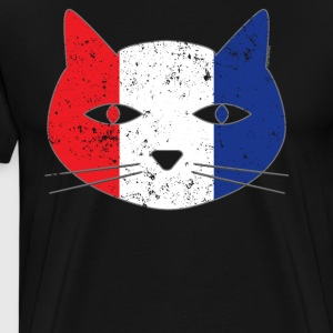 Persian Cat France Flag Cat - Men's Premium T-Shirt