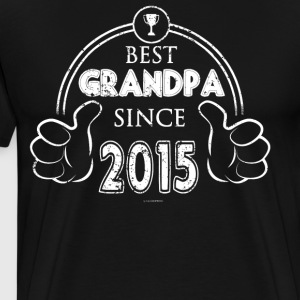 Grandfather Best Grandpa Since 2015 - Men's Premium T-Shirt