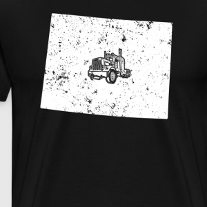 Wyoming Long Haul Trucker T Shirts 18 Wheeler Trucks Shirt - Men's Premium T-Shirt