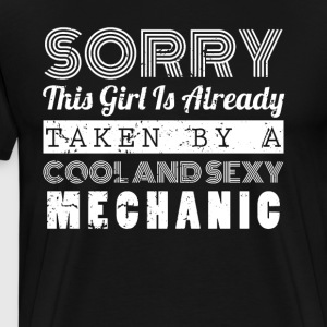 This Girl Is Taken By A Cool And Sexy Mechanic Tshirt - Men's Premium T-Shirt