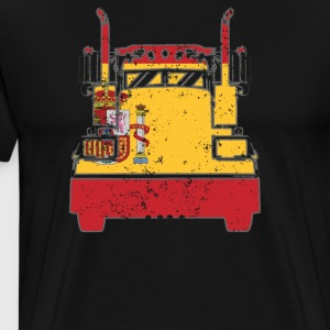 Spanish Trucker Shirt Spain Flag Trucker Dad Shirt - Men's Premium T-Shirt