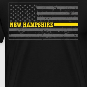 New Hampshire Tow Truck Driver Shirt Thin Yellow Line Shirt - Men's Premium T-Shirt