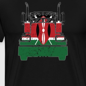 Kenyan Trucker Shirt Kenya Flag T Shirts Trucker Flag Shirt - Men's Premium T-Shirt