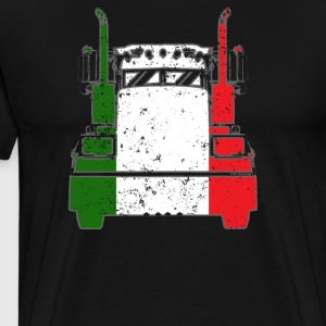 Italian Trucker Shirt Italy Flag Trucker Dad Shirt - Men's Premium T-Shirt