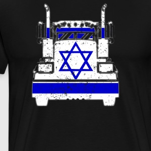 Israeli Trucker Shirt Israel Flag Long Haul Trucker - Men's Premium T-Shirt
