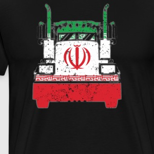 Iranian Trucker Shirt Iran Flag Trucker Dad Shirt - Men's Premium T-Shirt