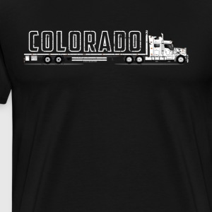 For Flatbed Truck Drivers Colorado CDL Truck Shirt - Men's Premium T-Shirt