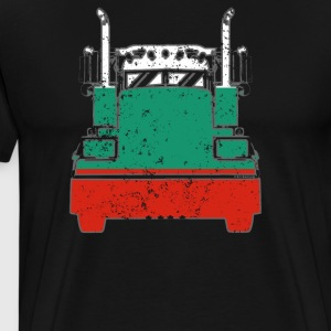 Bulgarian Trucker Shirt Bulgaria Flag Long Haul Trucker - Men's Premium T-Shirt