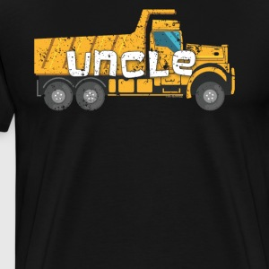 Best Uncle Yellow Construction Trucks - Men's Premium T-Shirt