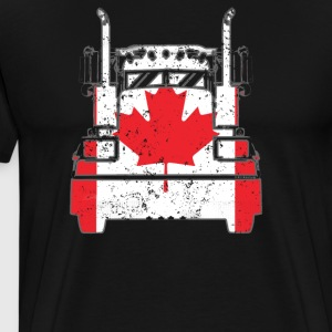 Canadian Trucker Shirt Canada Flag Truckers T Shirts - Men's Premium T-Shirt