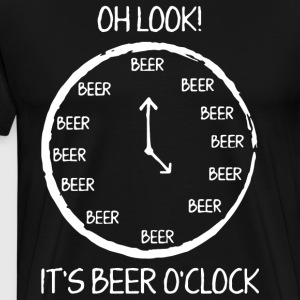 OH Look it's beer o clock t-shirts - Men's Premium T-Shirt