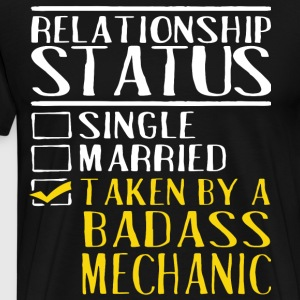 relationship status single married taken by a bada - Men's Premium T-Shirt
