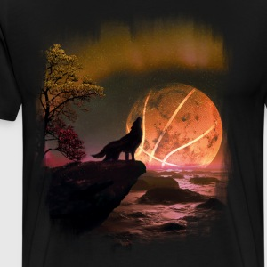 The ball in the moon - Men's Premium T-Shirt
